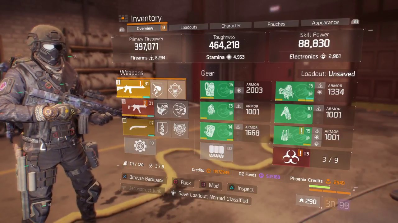 DZ Classified Nomad Build - The Division Build - Division-Builds