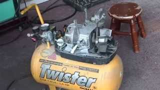 Air compressor conversion using a refrigerator compressor