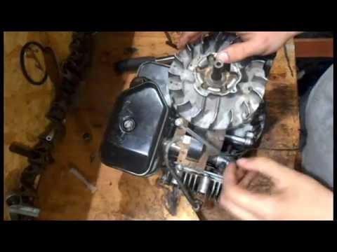 Двигатель газонокосилки. Разборка-сборка.