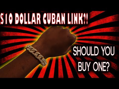 $10 Amazon Cuban Link Bracelet Review | Is It Worth It?