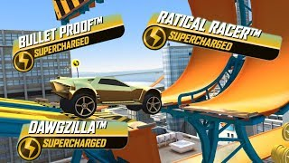 HOT WHEELS RACE OFF Gameplay Ratical Racer / Bullet Proof / Dawgzilla HW Cars | Stunt Racing Game