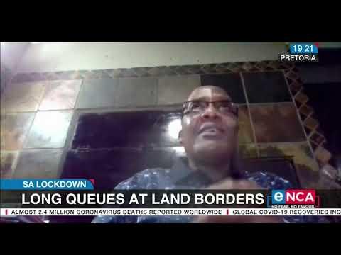 Long queues at land borders