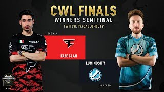 FaZe Clan vs Luminosity | CWL Finals 2019 | Day 2
