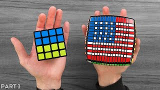 Flags Of All Countries On The Rubiks Cube [3x3 - 15x15]
