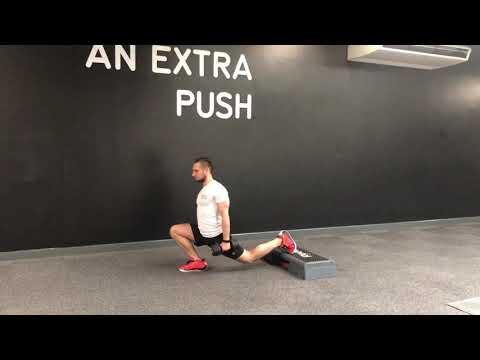 Split Squat Back Foot Elevated w/DB - High