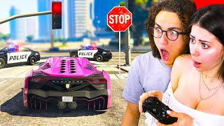 PLAYING GTA 5 WITHOUT BREAKING LAWS! W/ Girlfriend Azzyland