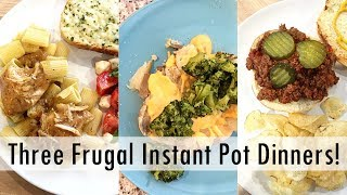THREE Instant Pot Frugal Meals - Collab with Lemonade Mom!