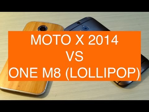 Motorola Moto X 2014 Lollipop vs HTC One M8 Lollipop