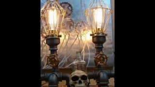 Our Steam Punk Industrial Lamps/ Hand Made Uniqe Art