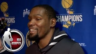 Kevin Durant and Andre Iguodala joke about Stephen Curry