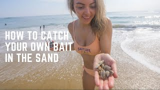 Epic Beach Fishing with Sand Fleas Caught in Sand - Tips and How To