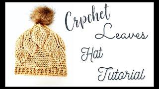 Easy Crochet Leaf Hat