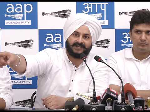 AAP Leader along with LOP's Briefs on BJP Nexus With Land Grabbers Exposed By SC