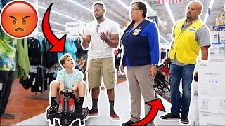 RIDING DRIFT CARTS IN WALMART! *COPS CALLED*