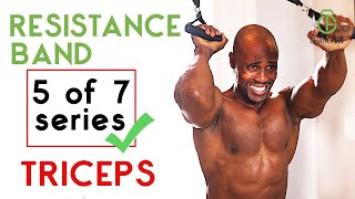 RESISTANCE BAND TRICEPS WORKOUT (arm workout at home)