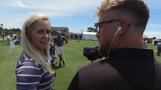 Behind the scenes at THE US OPEN!