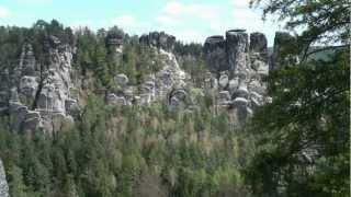 preview picture of video 'An/auf der Bastei im Elbsandsteingebirge  |  Full HD'