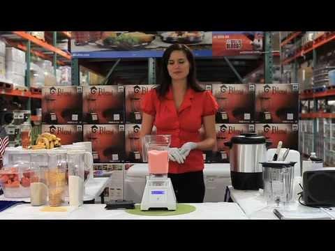 Video Blending Ice Cream using a Vitamix or Blendtec Blender - Costco Blendtec Roadshow