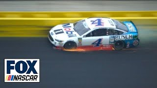 Kevin Harvick slams the wall after tire failure | 2018 CHARLOTTE | FOX NASCAR - Video Youtube