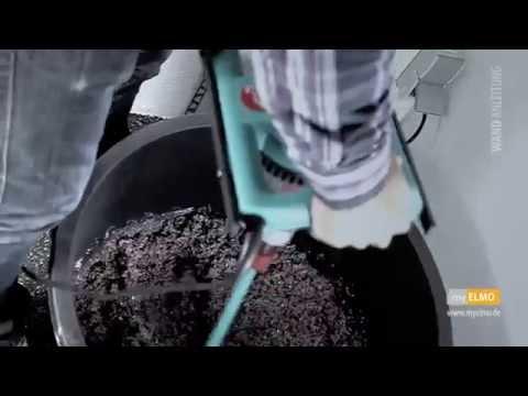 myELMO Steinteppich - Wand Verarbeitungsvideo