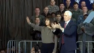 VP Mike Pence remarks at US air base in Japan. Feb 7, 2018. VP Mike Pence in Japan.