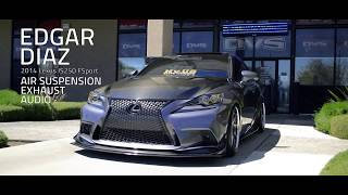 Lexus IS250 FSport Air Suspension & Audio Installation PASMAG Tuner Battlegrounds Las Vegas Winner