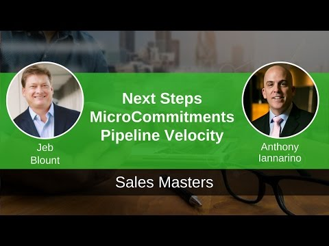 Next Steps and Micro Commitments - How to Avoid the Stalled Deal  - Video Image