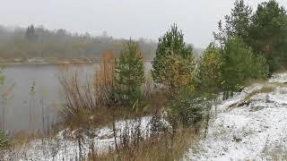 """Интро """"Снег - вид на реку"""" (без звука)"""