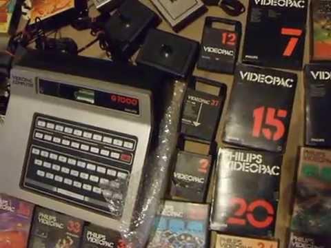 VIDEOPAC COMPUTER, G7000,G7400, PHILIPS, ODYSSEY MAGNAVOX 2, RADIOLA, RETRO, unboxing, 80's