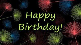 HAPPY BIRTHDAY - greeting card video - english