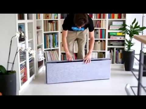 Pouf contenitore in tessuto per letto e poggiapiedi: idee per arredare casa
