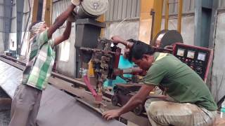 SAW welding in bridge girder fabrication