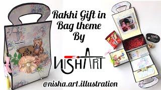 Handmade Rakhi Bag | Rakshabandhan Gift For Brother | Rakhi Gift By Nisha Art