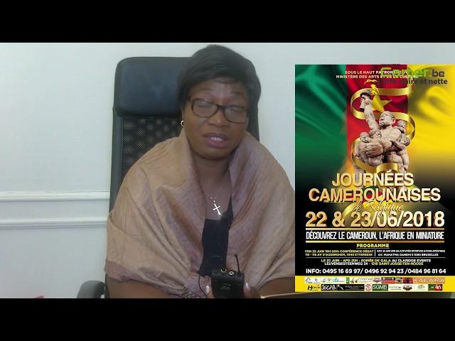 Mme Edwige Abena de la FASCADI explique les journées camerounaises de Belgique du 22 et 23 juin 2018