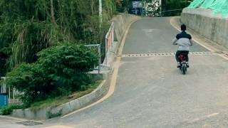 Onebot T8 250W folding ebike uphill