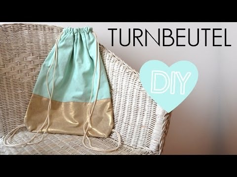 DIY Turnbeutel nähen - Rucksack einfach selber machen Anleitung für Anfänger