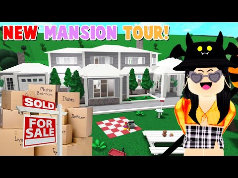 Moving Into My NEW Bloxburg MANSION + Tour! (Roblox)