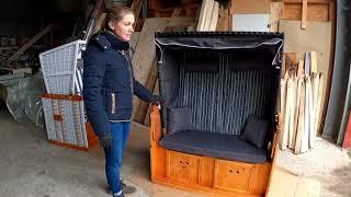 TEST: sehr günstiger 2-Sitzer Strandkorb, super bequemer Volllieger