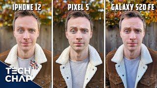 iPhone 12 vs Pixel 5 vs Galaxy S20 FE - CAMERA Comparison!