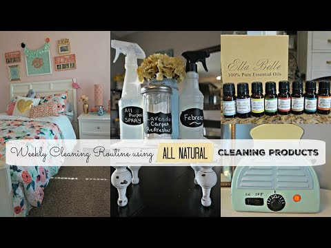 Weekly Cleaning Routine using ALL NATURAL Cleaning -Essential Oils| Cleaning Motivation CLOSED