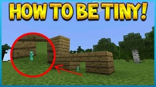 Gambar cover HOW TO BE TINY IN MINECRAFT POCKET EDITION!