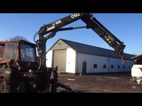 Video: Valmet 805 med Hiab 092 kran. 1
