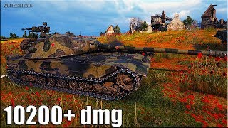 РУССКИЙ на ЕВРОСЕРВЕРЕ 🌟 10200+ dmg К-91 World of Tanks рекорд по урону