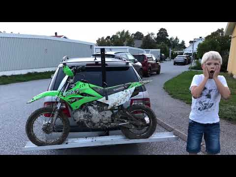 kawasaki KLX110 マフラー  バイクパーツ動画バイク用品動画 - バイク