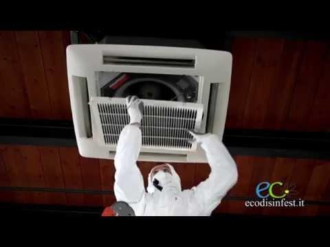 Sanificazione Pulizia e disinfezione Condizionatore SPLIT e Fan-Coil Processo operativo Ecodisinfest