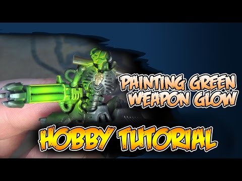 Painting Green OSL Weapon Glow – How To DIY Airbrushing