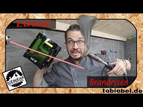 Der Kampf der Giganten: Brennstempel vs Laser engraver ! Brandstempel vs Lasergravur ! tobiebel