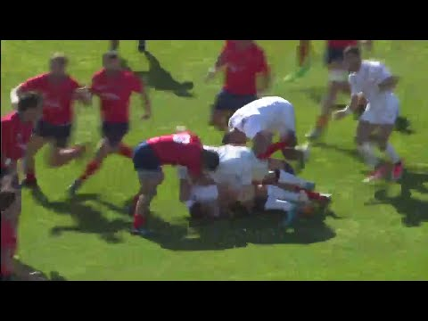 USA's Nat Augspurger scores fantastic team try