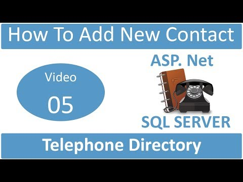 how to add new contact in telephone directory