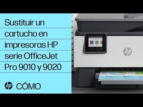 Cómo sustituir un cartucho de tinta en impresoras HP serie OfficeJet Pro 9010 y 9020
